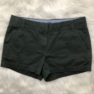 J Crew Olive Chino Shorts